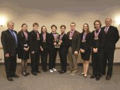 2015 State Champion St. Peter team with SCSC board chair and CEO