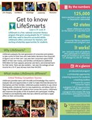 Two-page flier with information on Lifesmarts